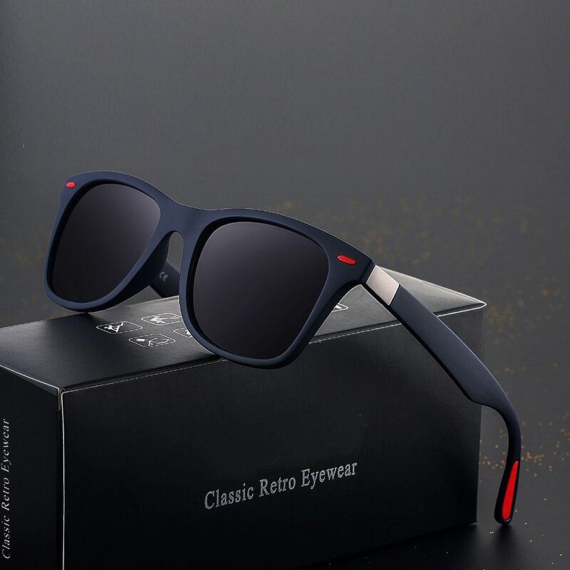 HDSUNFLY NEW DESIGN Men Polarized Sunglasses Men Women Driving Square Style Rays Sun Glasses Male Goggle UV400 Gafas De Sol
