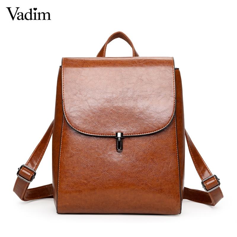 Vadim Preppy Style Schoolbag Women Backpack Multifunction Female Shoulder Bag High Quality Bookbag Ladies Backpack Sac a Dos