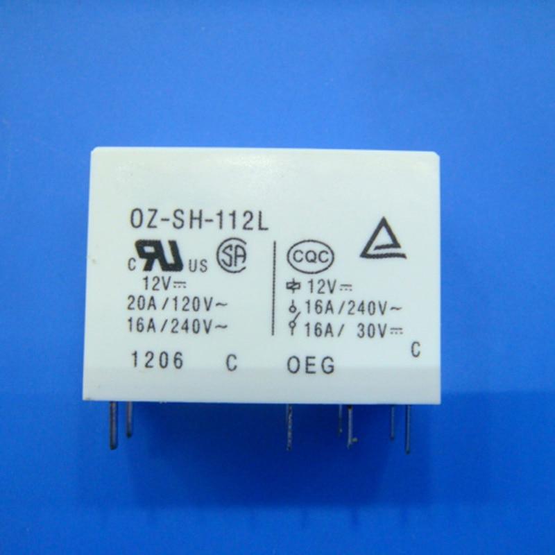 Nuevo 10 unids/lote relé de OZ-SH-112L puede reemplazar G2R-1-E-12VDC