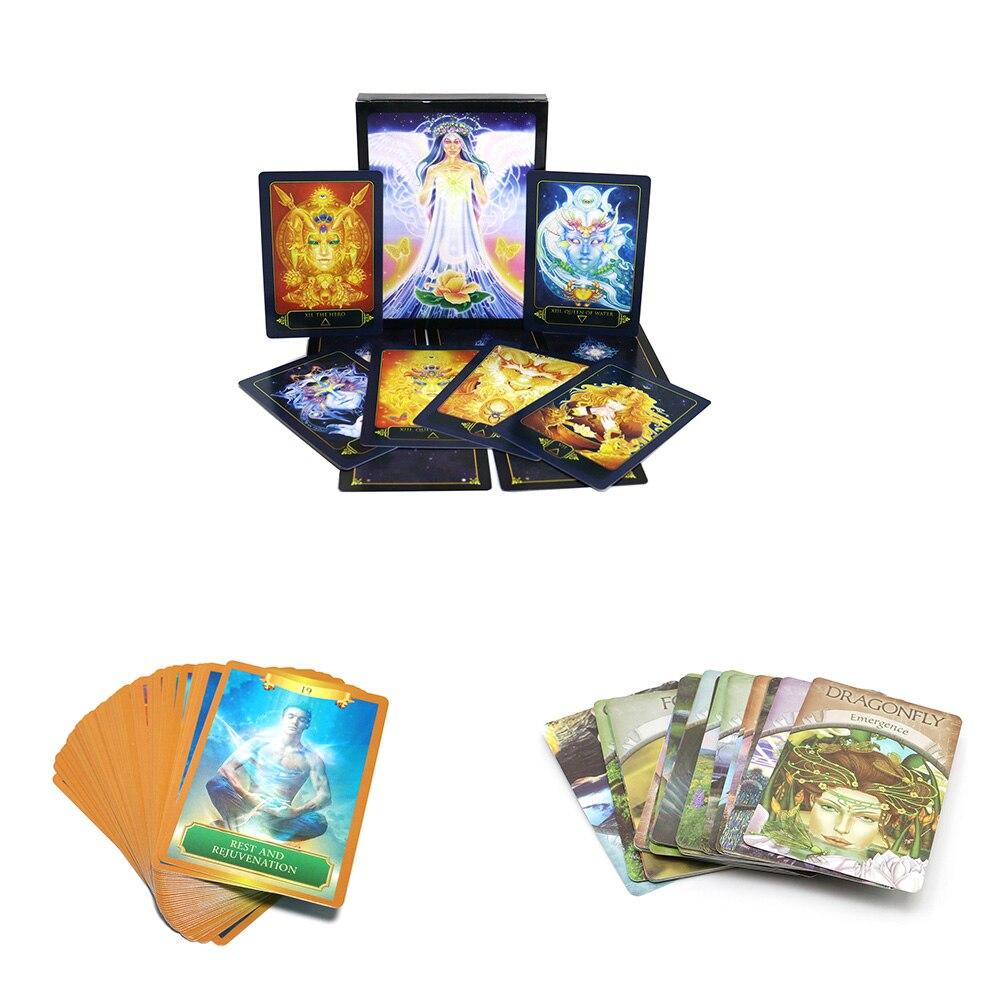 Cartas de oráculo de tarot deck, Gia de ensueño, energía, tierra, juego de cartas de divination, guía de juego de mesa inglés, lectura misteriosa de destino