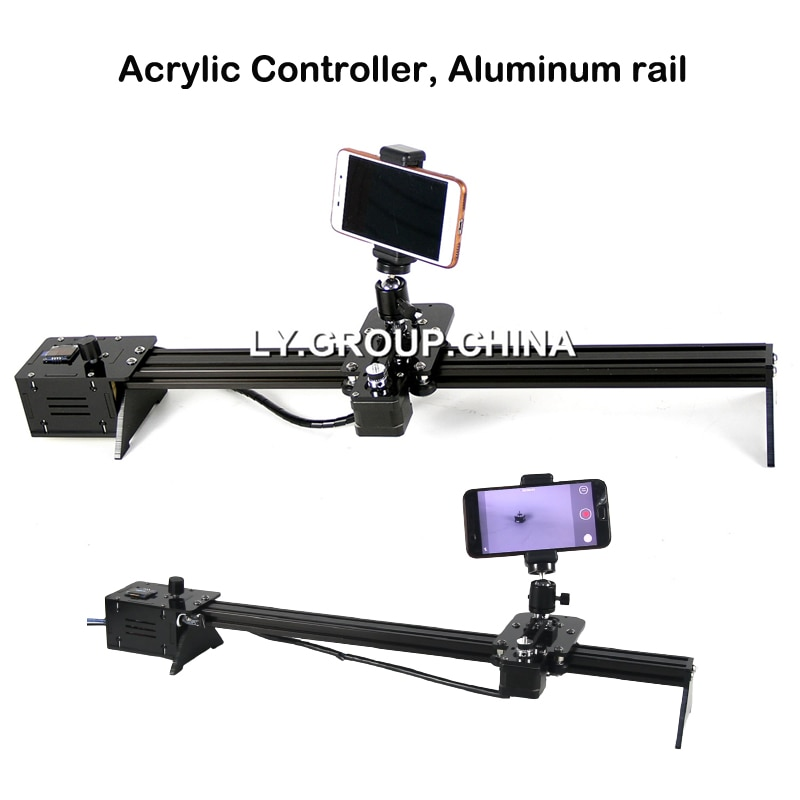 Disassembled Aluminum Camera Slide Rail Acrylic controller with Dual 42mm Stepper Motor Offline Control Move Range 600MM