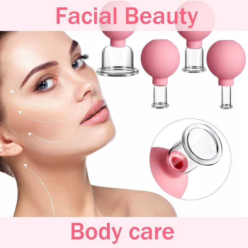Rubber Vacuum Cupping Glasses Massage Body Cups Anti Cellulite Cans Face Massage Vacuum Jar Medical Chineses Therapy Cupping 1PC vacuum suction family body therapy massage nipple enhancer anti cellulite vacuum silicone cupping face lift face slimming tool