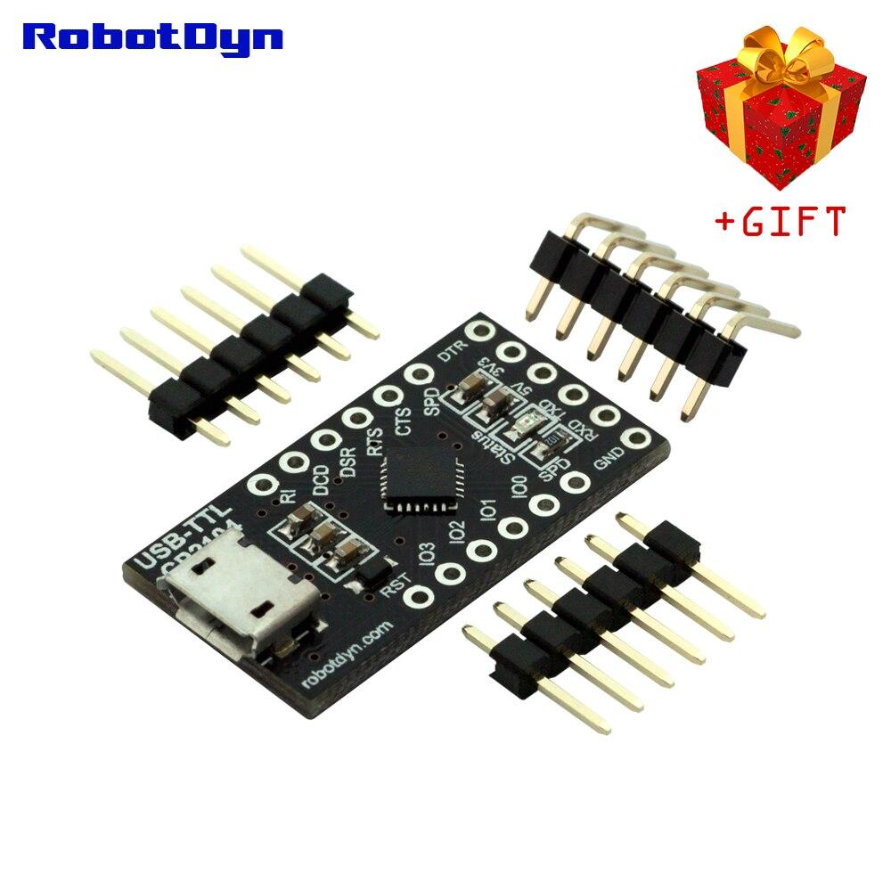 Серийный адаптер CP2104 USB-TTL UART-микроконтроллер, 5 В/3,3 В, Micro USB