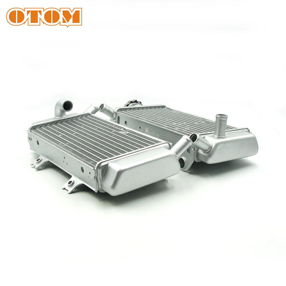 Radiador de aluminio OTOM, radiador de aceite para motocicleta, radiadores izquierdo + derecho para HONDA CRF 250R 2006-2009, moto de cross ATV