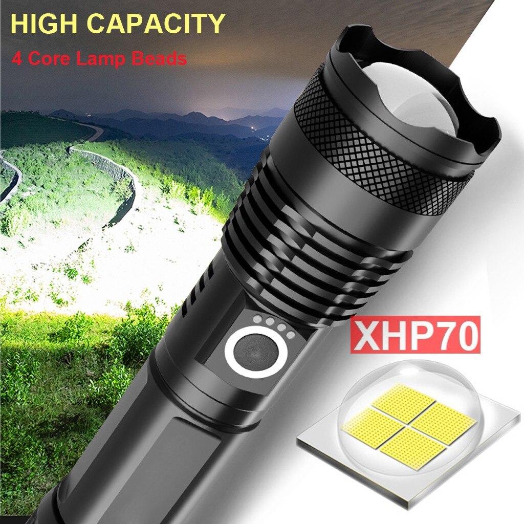 Linterna LED de 120000 lúmenes XHP70.2, La linterna LED más potente, linterna con Zoom USB XHP70 XHP50 18650 26650, linterna con batería recargable