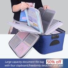 Maletín portátil para documentos, bolso para hombre para mujer, para documentos, nueva bolsa de negocios para viajes, organizador de documentos para almacenamiento de archivos de papel