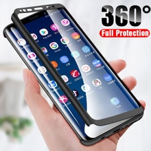 360 Full Cover phone Case For Samsung Galaxy A6 A7 A8 A9 J4 J6 J8 Note 5 8 9 10 S6 S7 S8 S9 S10 Lite Pro Plus Edge 2018 Case