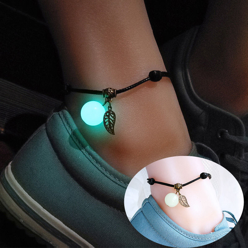AliExpress - JUYA Simple Luminous Bead Ankle Chain Pendant Anklet Beaded Summer Beach Foot Jewelry Fashion Style Anklets for Women