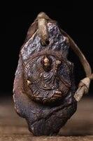 home decor 3tibet buddhism old bronze engraved padmasambhava statue amulet pendant exorcism ward off evil spirits