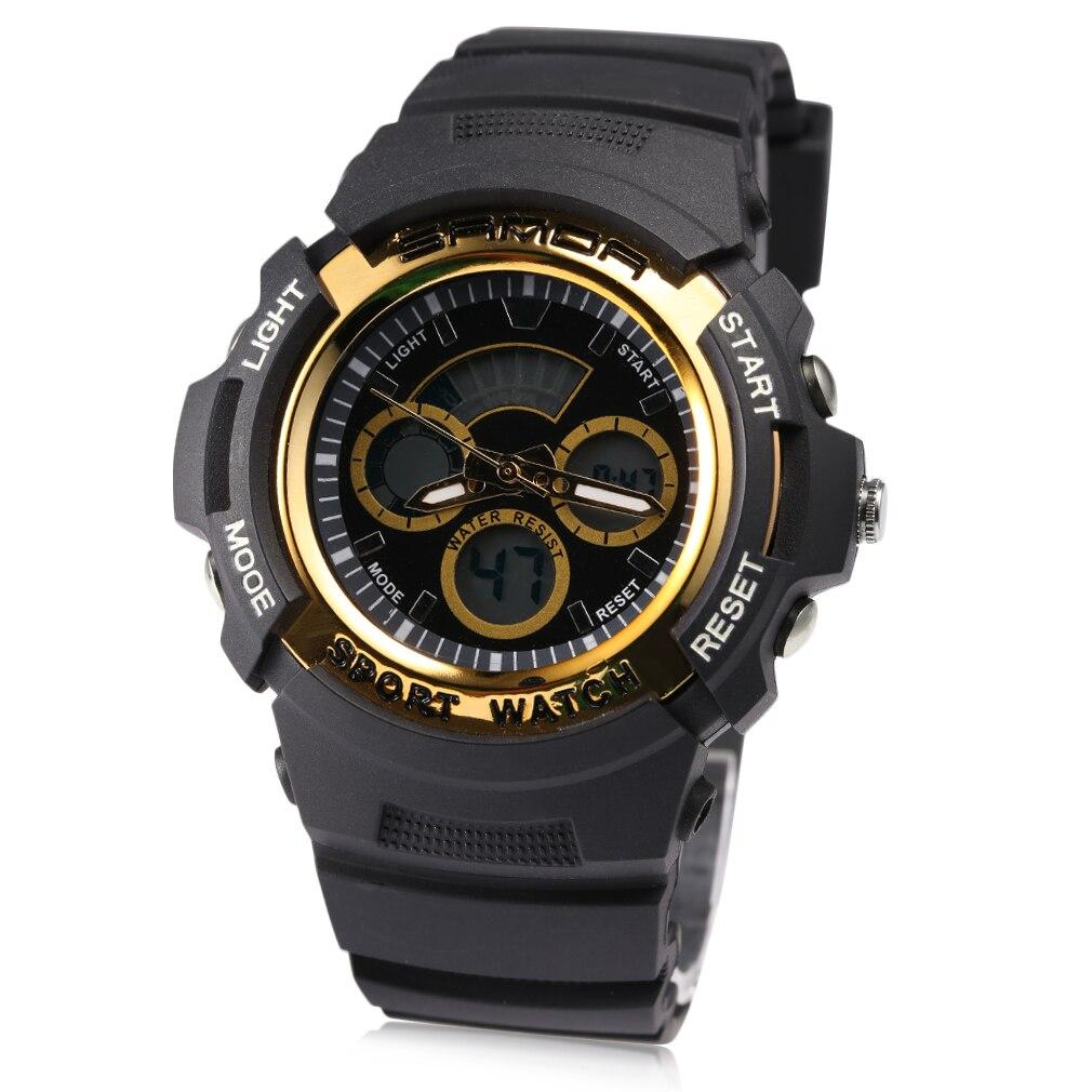 Fashionable Design Men Women Electronic Sport Watch Three Pin Dual Display Digital Wrist Watch
