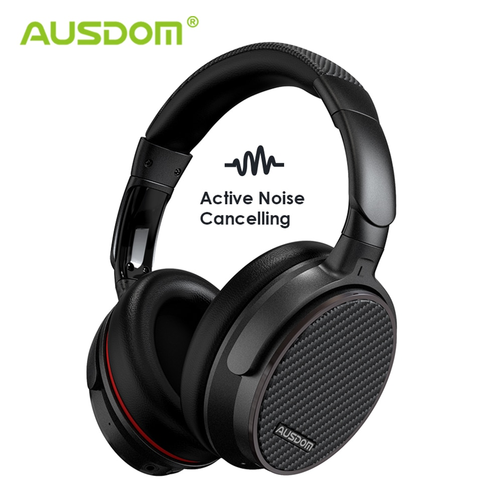 Auriculares inalámbricos con cancelación de ruido activa Ausdom ANC7S, auriculares Bluetooth con micrófono de sonido puro para TV, deportes, Avión de Metro