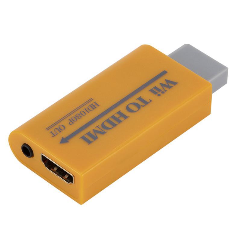 HobbyLane, convertidor de Wii a HDMI, adaptador de conector AV, Full HD 1080P Wii a HDMI 3,5mm, Audio para Monitor de PC, HDTV Display d18