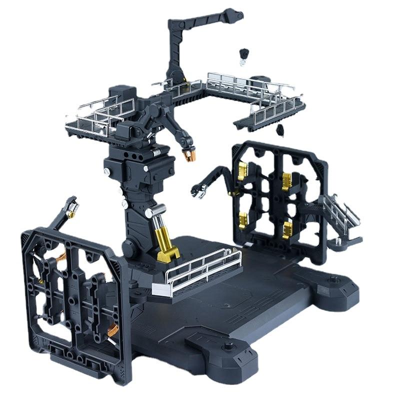 Набор моделей Gundam, анимационная фигурка RG 1/144, универсальная платформа, модель ангара, украшение, экшн-фигурка, игрушки для детей