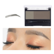 DNM Instant Eyebrow Stamp Makeup Tools Waterproof Powder Makeup Set Adjustable Eyebrow Stamp Women E
