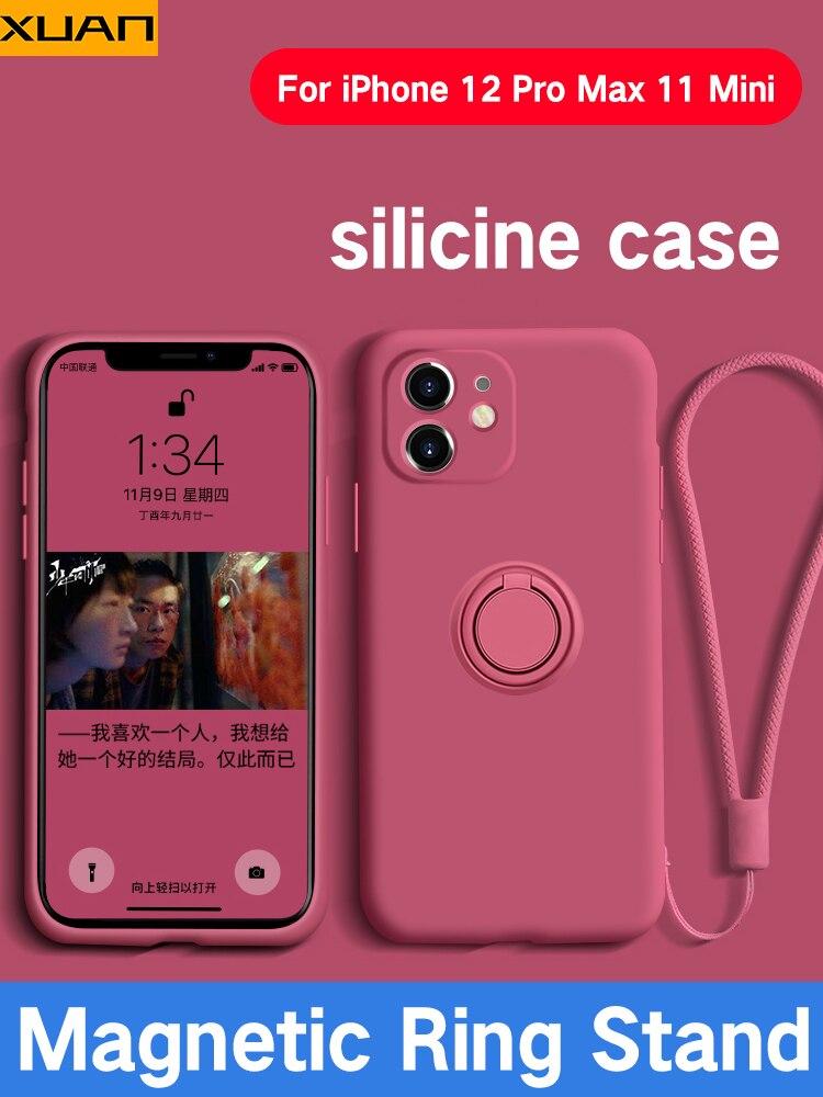 Funda De silicona líquida De lujo Para iPhone 12 Pro Max, con...