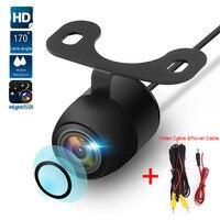 HD камера заднего вида с ночным видением, 170 широкоугольная камера заднего вида для парковки, водонепроницаемая светодиодная камера заднего ...