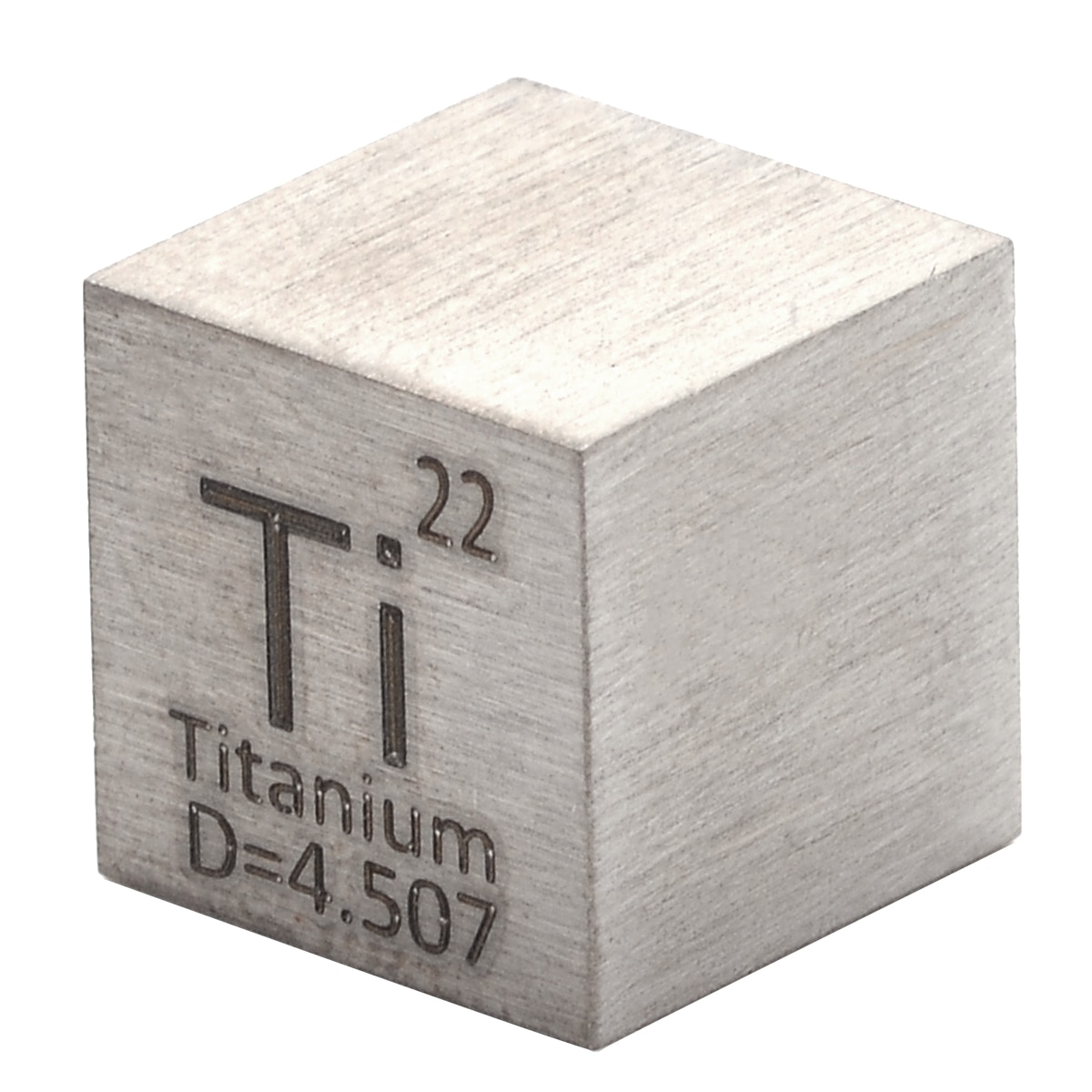 1Pcs 99.5% Pure Titanium High Purity Cube Ti Metal Carved Element Periodic Table Class Teaching Supplies 10x10x10mm