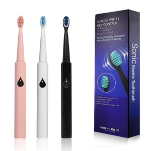 Sonic Powered Electric Toothbrush, Smart Timer, Fully Rechargeable with One 2 Hr Charge Last 45 Days,Whitening Toothbrush