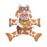 aapet 1pc canvas pet vocal toys squeak sound dog toys angry cow shape dog molar chew toy pet puppy cat kitten toy accessories
