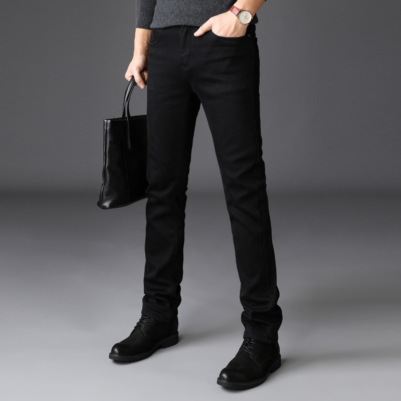 Джинсы мужские стрейчевые, узкие брюки s Youth, прямые джинсы в стиле пэчворк, уличная одежда, чистый черный цвет
