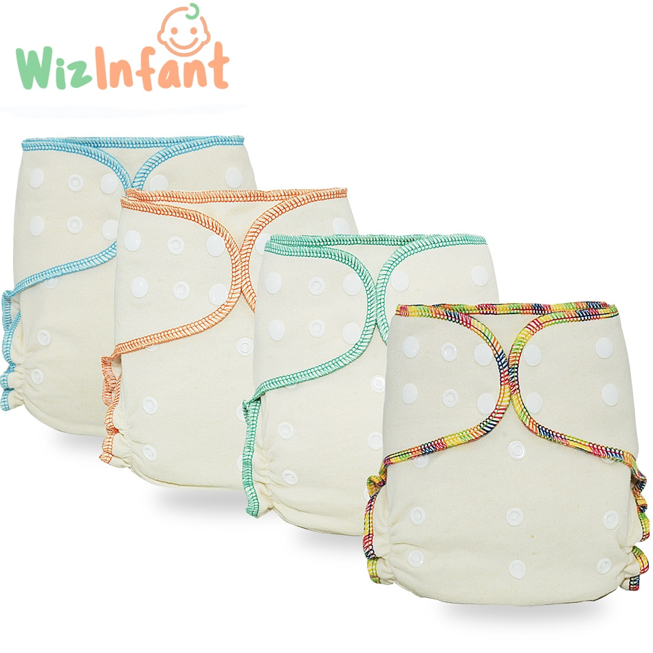 Wizinfant Eco-friendly OS Hybrid  Fitted Cloth Diaper Washable  Nappy Diapes Ecological Adjust, High Absorbency for 5-15kg Baby