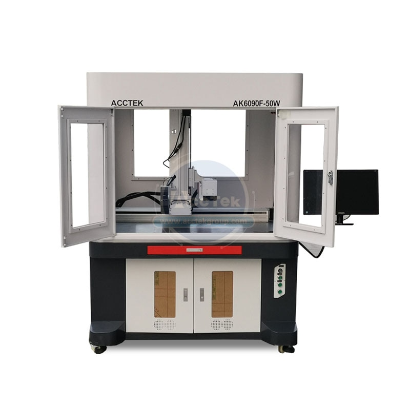 Fast and High Quality Gold Jewellery Metal Plastic Fiber Laser Cutting Marking Machine