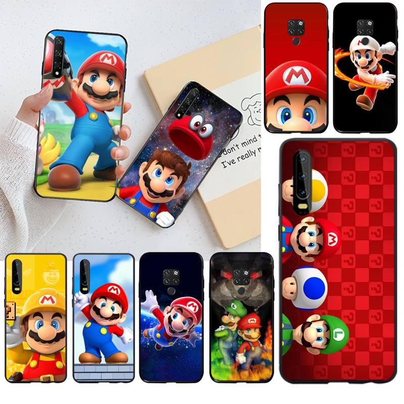 Funda de teléfono suave personalizada de Super mario bros para Huawei P40, P30, P20 lite Pro Mate 30, 20 Pro P, Smart 2019 prime