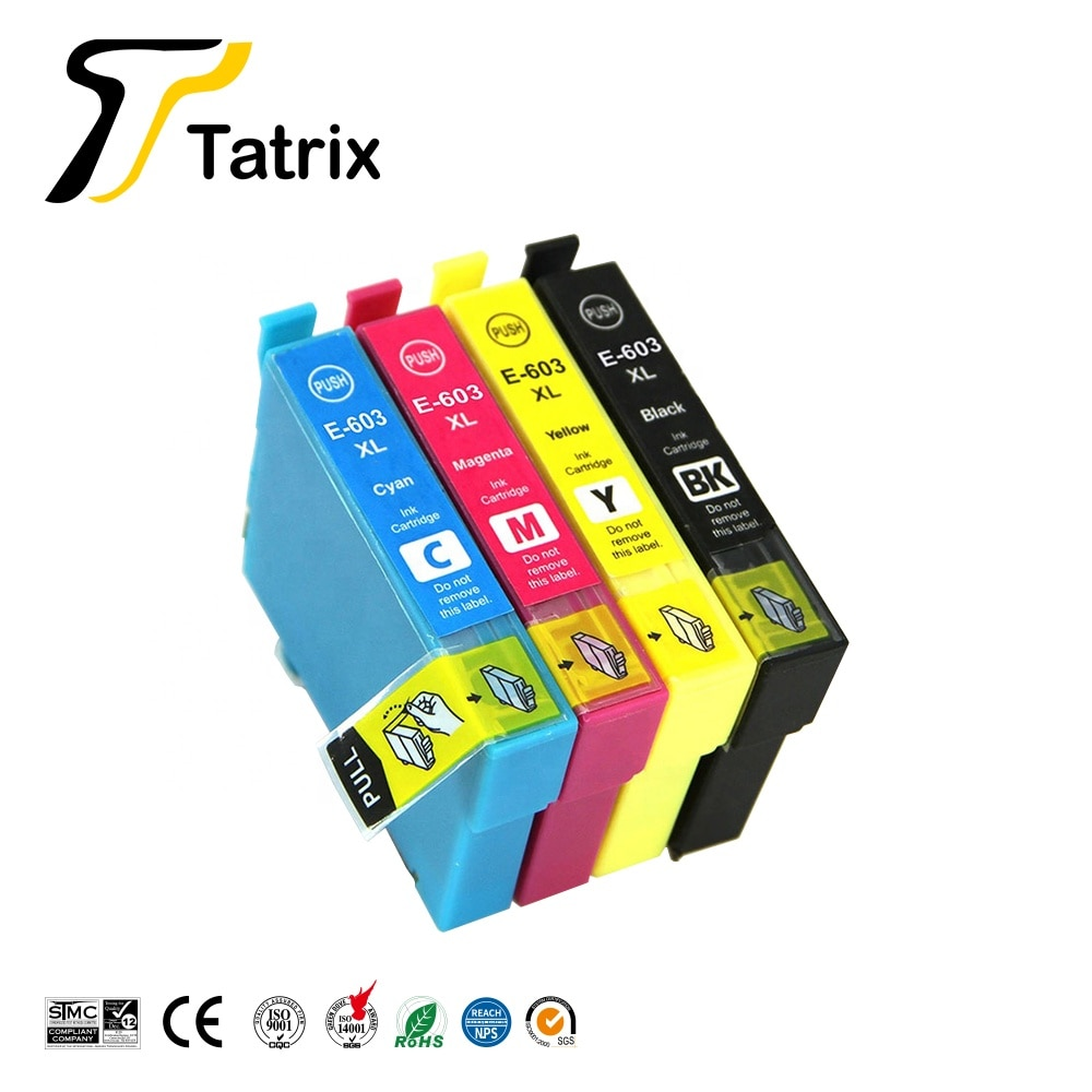 Tatrix 603XL T603 T603XL E-603XL compatible cartucho de tinta para Epson WF-2810DWF WF-2830DWF WF-2835DWF WF-2850DWF