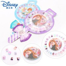Disney Frozen Elsa Anna Princess Nail Stickers Cartoon Removable Princess Sofia Girls Nail Makeup Toy Sticker For Children Gift