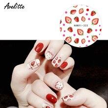 Avelitte nouveau Pastel doux Net rouge citron fruits avocat Ultra-mince adhésif ongles autocollant bricolage ongles