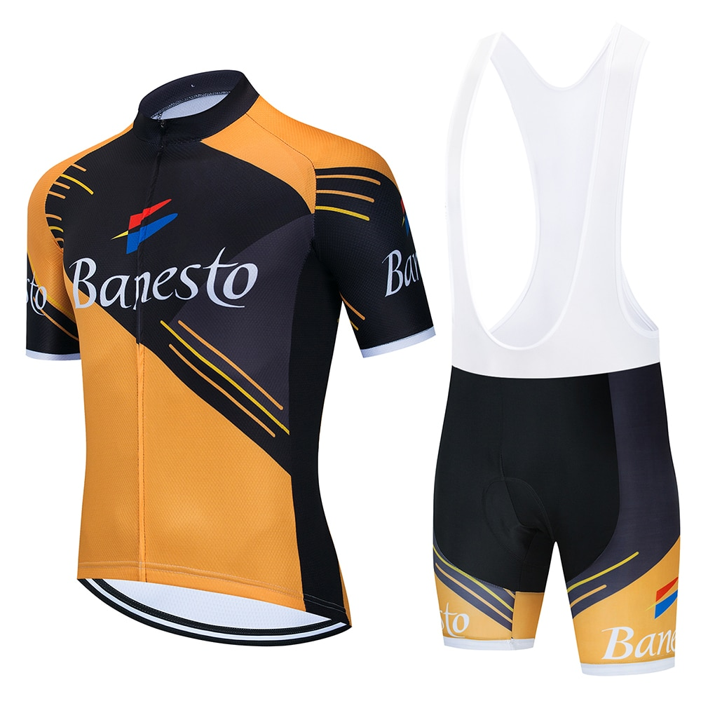 2020 Cycling Jersey Set Men Mtb Cycling Clothing Suits Quick Dry Bicycle Breathable Cycling Sportswear Short Sleeve Bike Uniform nw cycling jersey for men quick dry short sleeve clothing set summer outdoor sportswear black retro cycling jersey for men