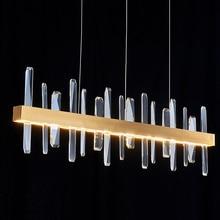 K9 cristal luxe LED lustre éclairage pour salon Restaurant Bar lustres 30W 40W or Postmodern Art suspension lampe