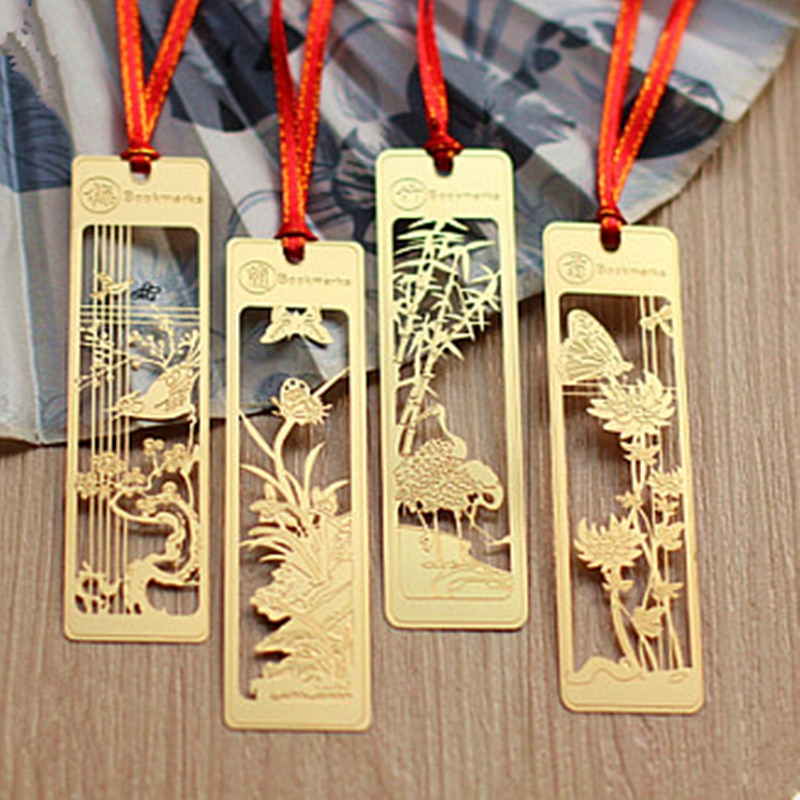 Hot Selling Creative Chinese Style Exquisite Copper Hollow Metal Art Bookmark chinese style metal hollow bookmark lotus lotus leaf bookmark creative stationery fine holiday gifts art accessories