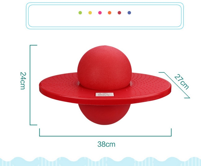 Tablero de salto con pelota de salto gruesa integración sensorial para jardín de infancia, pelota que rebota para niños, juguetes de Fitness 2020