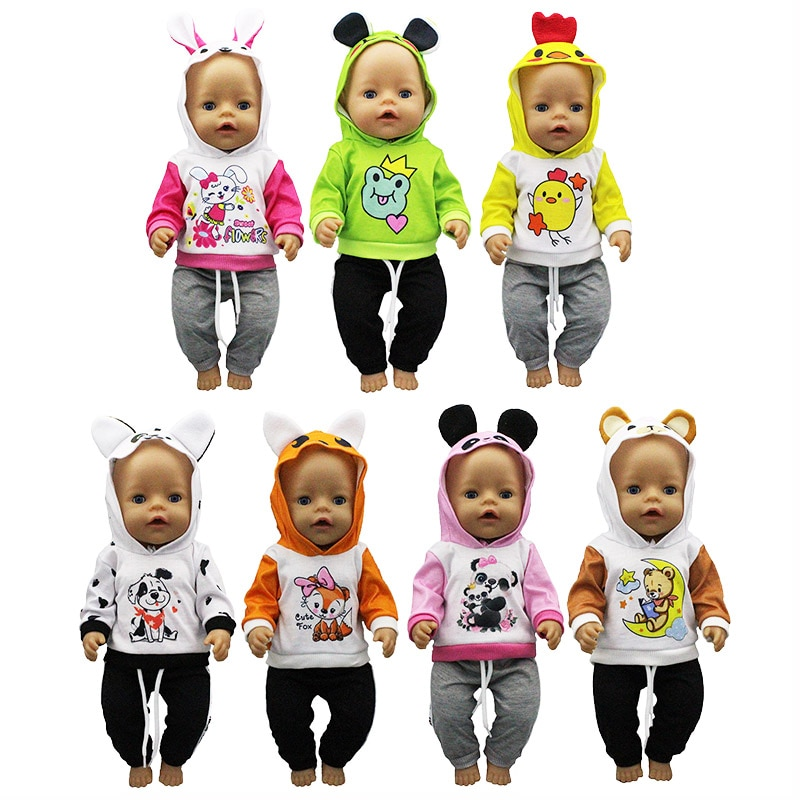 Baby New Born Fit 17 inch 43cm Doll Clothes Accessories Leisure Suit For Baby Birthday Gift