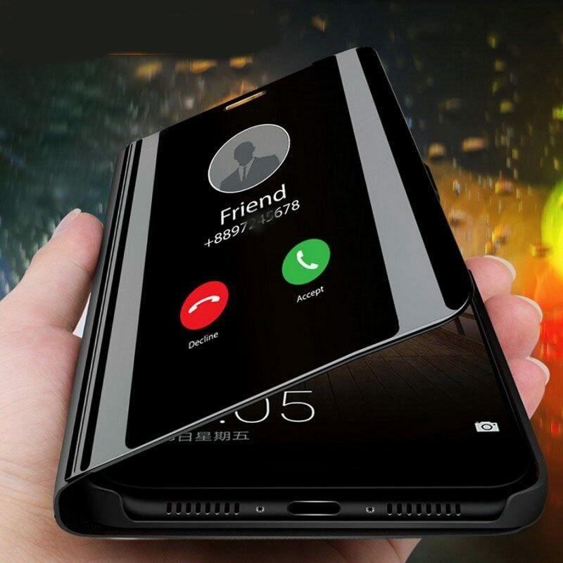 Espelho inteligente Do Caso Da Aleta Para Xiaomi Mi 10 Pro 9 9T SE 8 Lite Nota 10 Pocophone F1 F2 pro A2 A3 CC9 CC9E Funda Tampa Do Telefone