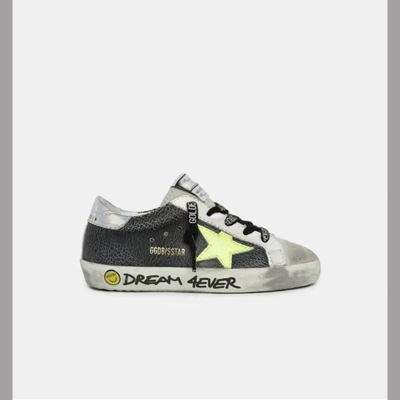 Spring and Summer  Products Burst Cracks and Old Small Dirty Shoes Children's Leisure Non-slip Parent-child Graffiti Shoes QZ20 enlarge