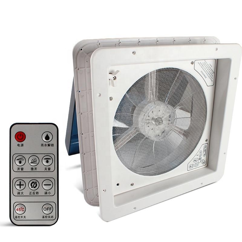 RV Accessories 14' CE Certificated Rain Sensor 420mm Anti-UV ABS 12V Remote Controller RV Roof Vent Fan
