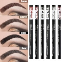Four-forked Eyebrow Pencil Microblading Eyebrow Tattoo Pen Long Lasting Waterproof Brown Tip Eye Bro