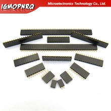 10 pièces 2.54mm Stright femelle simple rangée broche en-tête bande PCB connecteur 1*2/3/4/5/6/7/8/10/12/16/20/40 broches pour arduino