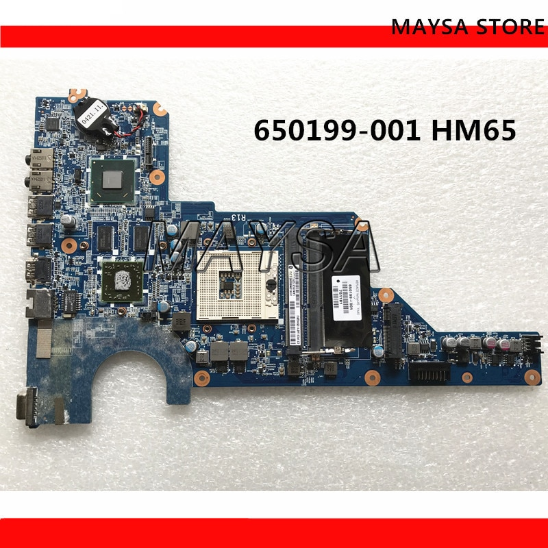 اللوحة لابتوب HP جناح G4 G6 G7 650199-001 DA0R13MB6E0 HM65 PGA989 DDR3 HD6470 1GB 100% اختبار بالكامل