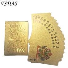 Carte de Poker or 24K Design Dragon chinois   Cartes de jeu en aluminium plaqué or, 1 plate-forme, livraison gratuite