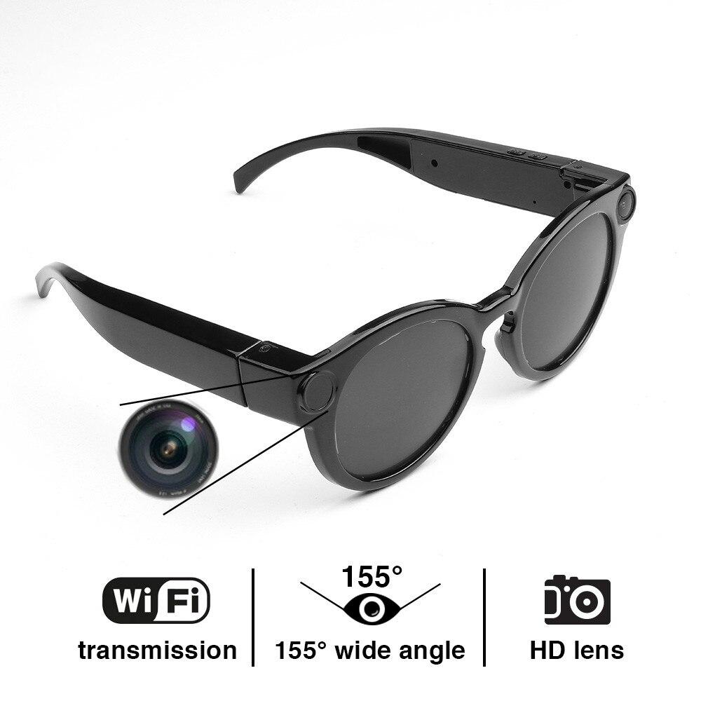 K11 Smart Glasses WiFi Camera HD 1080P Glasses Eyewear DVR Video Recorder Snapshot Camera Sun Riding Glasses Mini Camcorder
