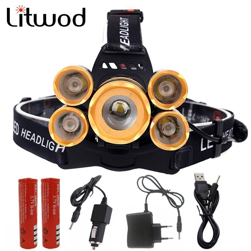 Z10 faro led linterna antorcha 3T6 3x XM-L T6 linterna LED linterna de cabeza con zoom Lanterna faro para las baterías y el cargador