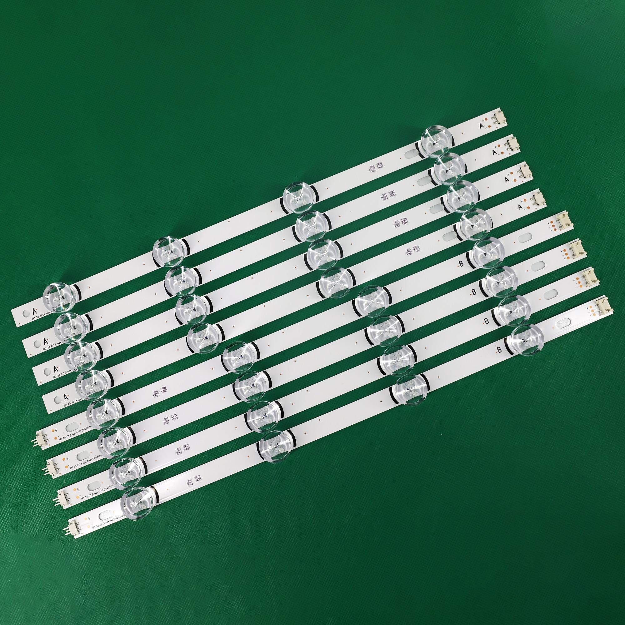 100% جديد 8 قطعة (4 * ، 4 * B) LED شرائط ل LG INNOTEK DRT 3.0 42