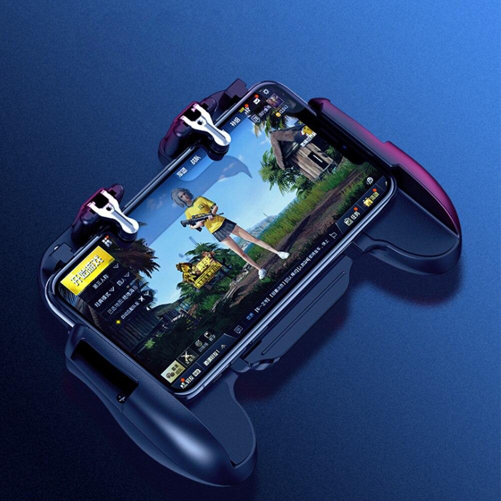 H5 teléfono móvil extensible Gamepad portátil para PUBG Joystick disparador asistente diseño de facturación inalámbrico para IPhone para Samsung