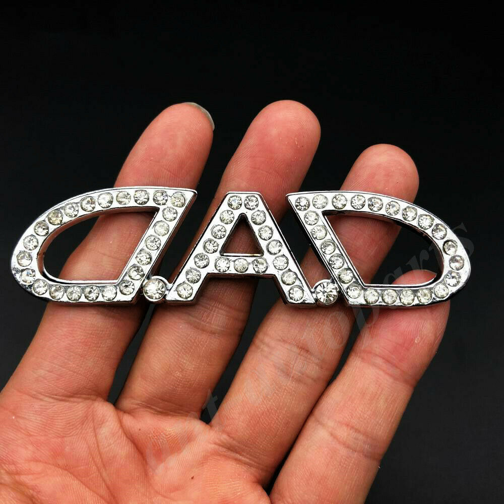 3D metalowy diamentowy tata Garson VIP luksusowy JDM JP znaczek na samochód znaczek kalkomania
