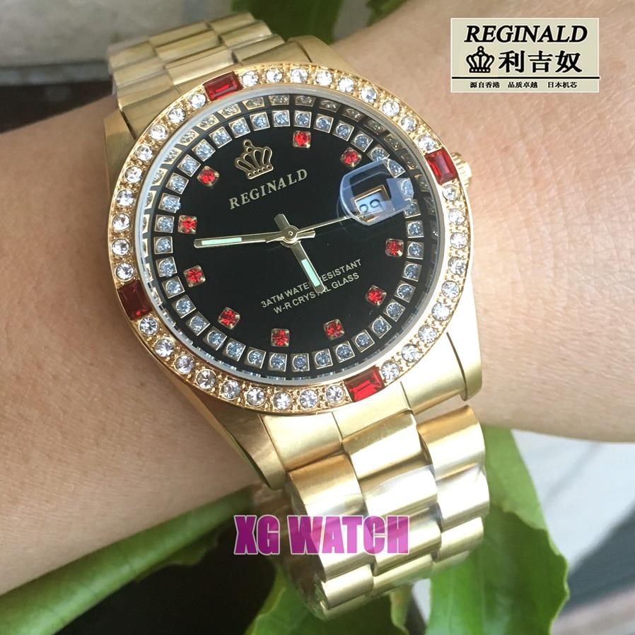 2020 Mens Watch Gold Luxury Brand Diamend Quartz Wristwatch Luminous Fashion Japan Movement Geneva Designer 36mm Gift for Men enlarge