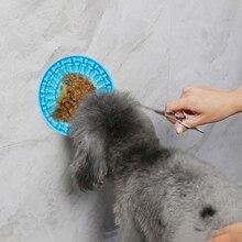 Kąpiel zwierząt domowych zabawka łatwy prysznic przyrząd szkoleniowy dla karmnik dla psa pies Lick Pad zabawki dla psów urządzenie do mycia rozproszenia Aider Disc Sucker