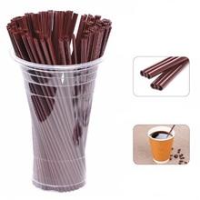 100Pcs/ Pack 17 CM Length Coffee Straw Plastic Drinking & Stirring Tea Milk Tool Supplies Holiday Pa